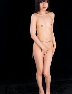 Naked Moeka Kurihara shyly covering her pussy before letting a guy fuck her legs