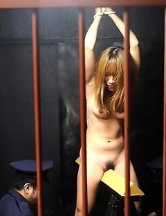 Brunette prisoner gets rammed hard