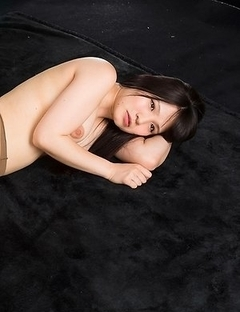 Pantyhose-clad hottie Sana Iori gets her meaty thighs fucked sideways here