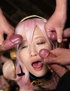 Hot japan Mizuki gangbang and bukakke