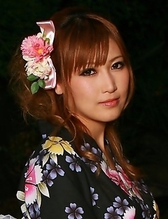 Hot lady in kimono Eri Hoshikawa